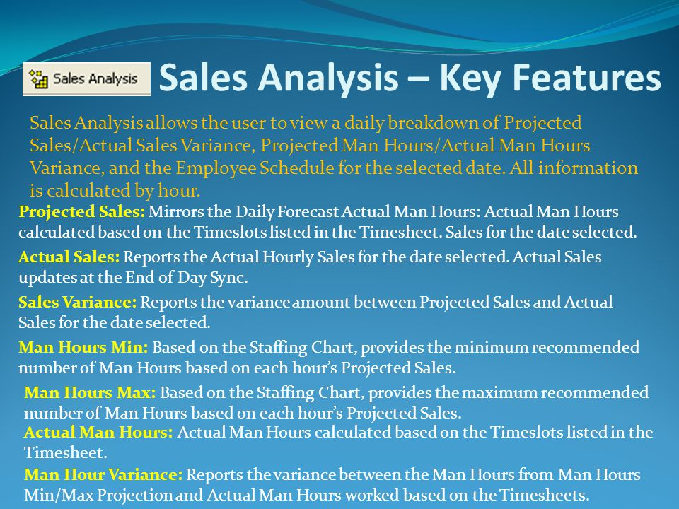 Sales Analysis – Key Features