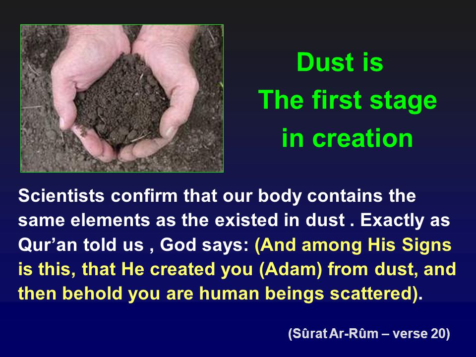 The first stage in creation