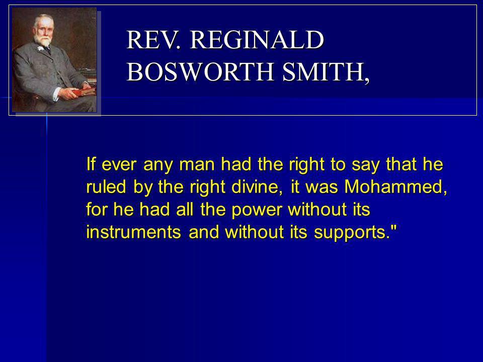 REV. REGINALD BOSWORTH SMITH,