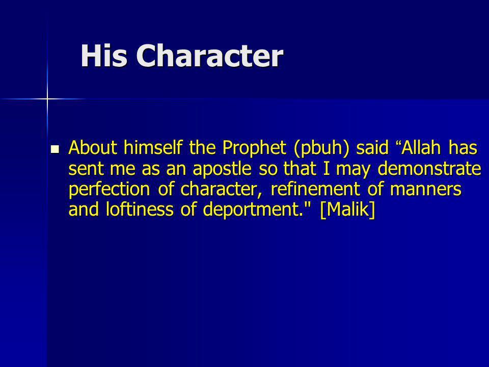 His Character