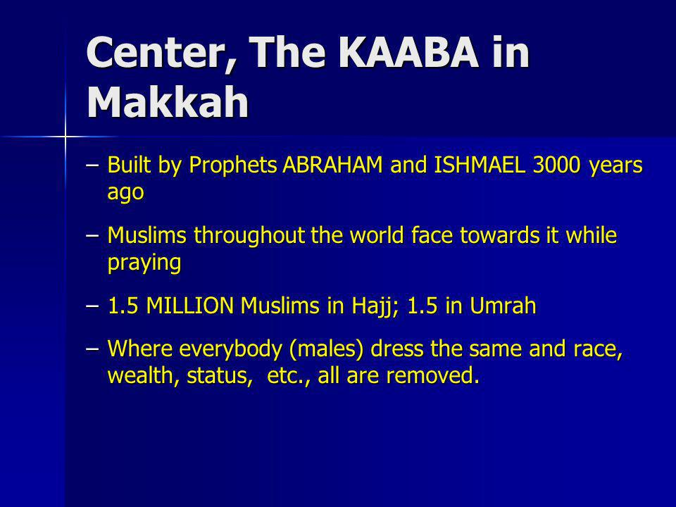 Center, The KAABA in Makkah