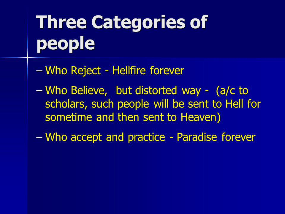 Three Categories of people