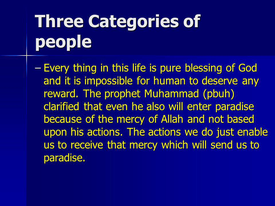 Three Categories of people