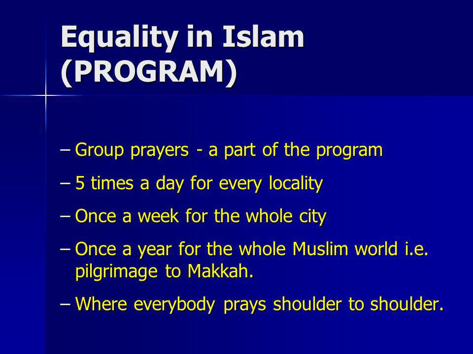 Equality in Islam (PROGRAM)