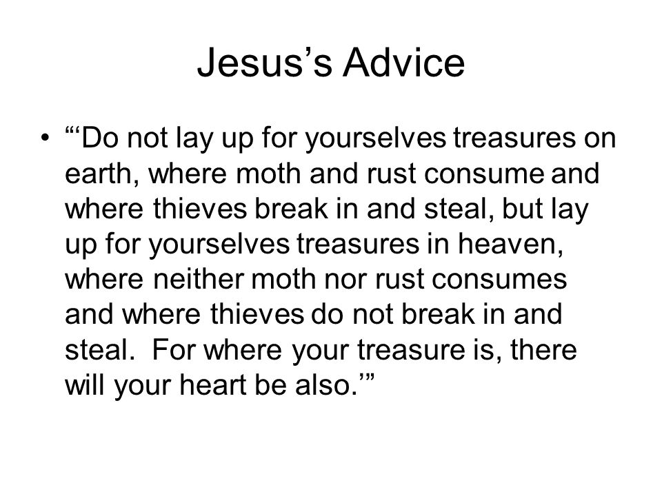 Jesus's Advice