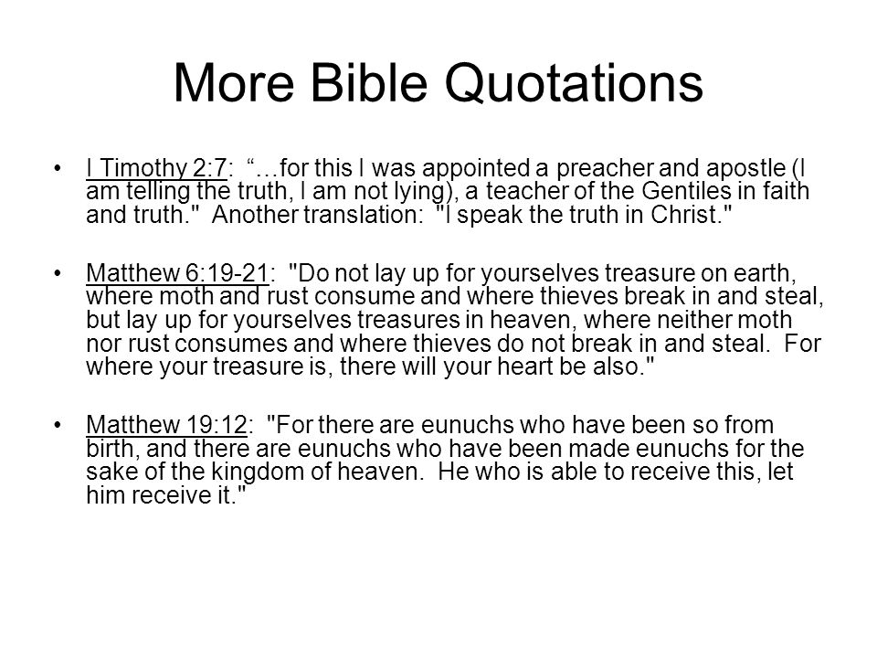 More Bible Quotations