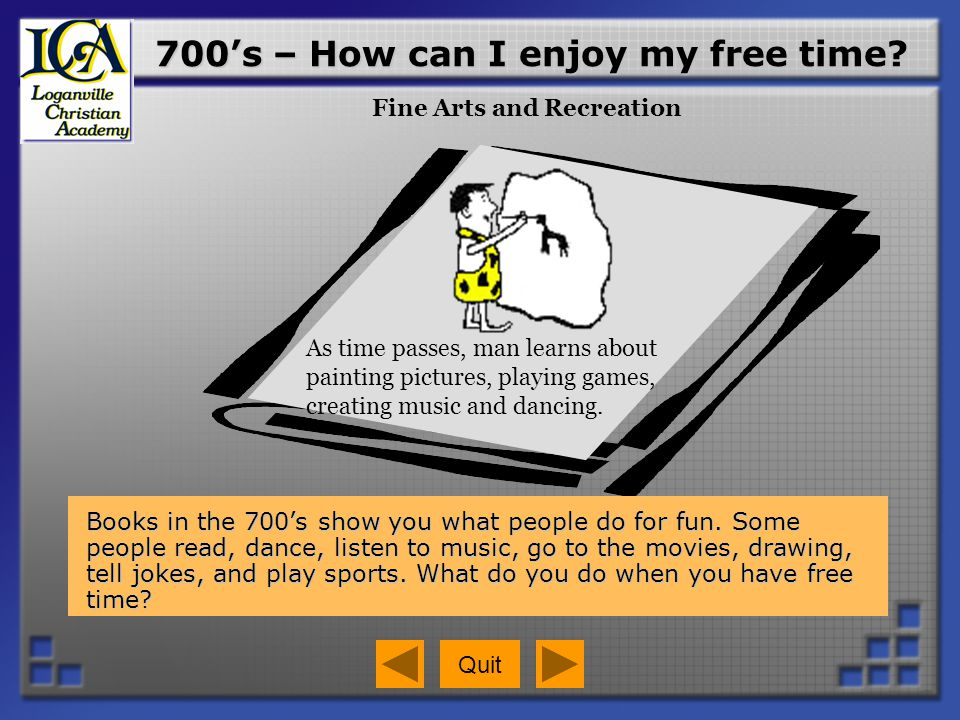 700's – How can I enjoy my free time