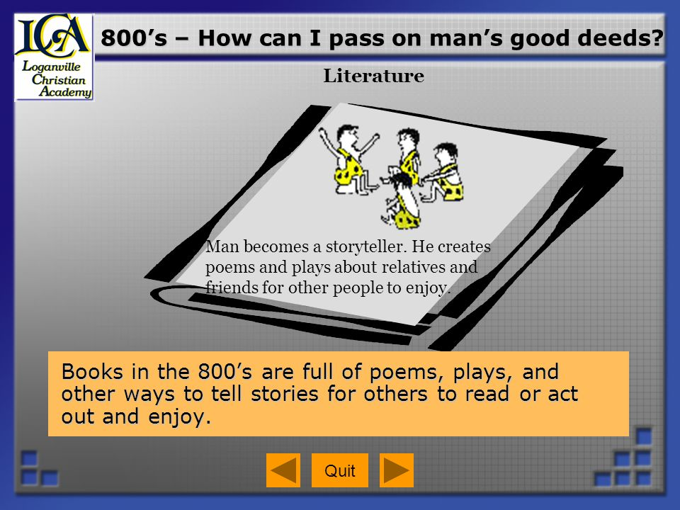 800's – How can I pass on man's good deeds
