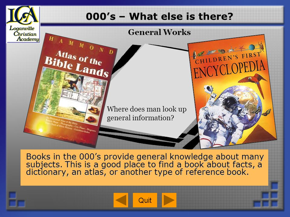 000's – What else is there General Works