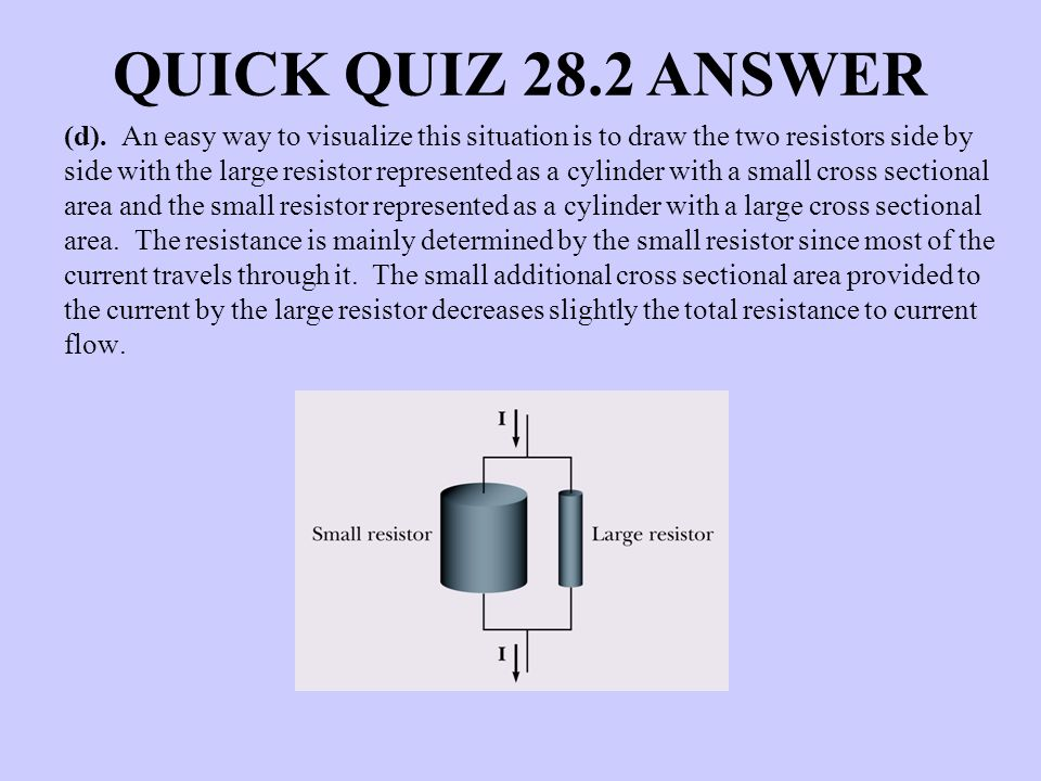 QUICK QUIZ 28.2 ANSWER