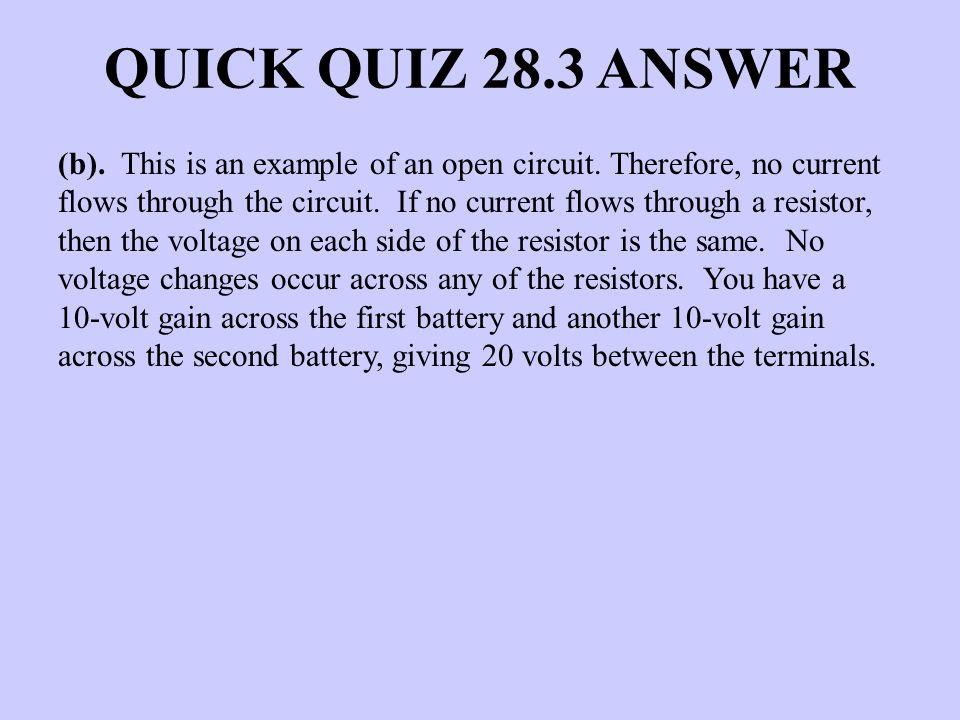 QUICK QUIZ 28.3 ANSWER