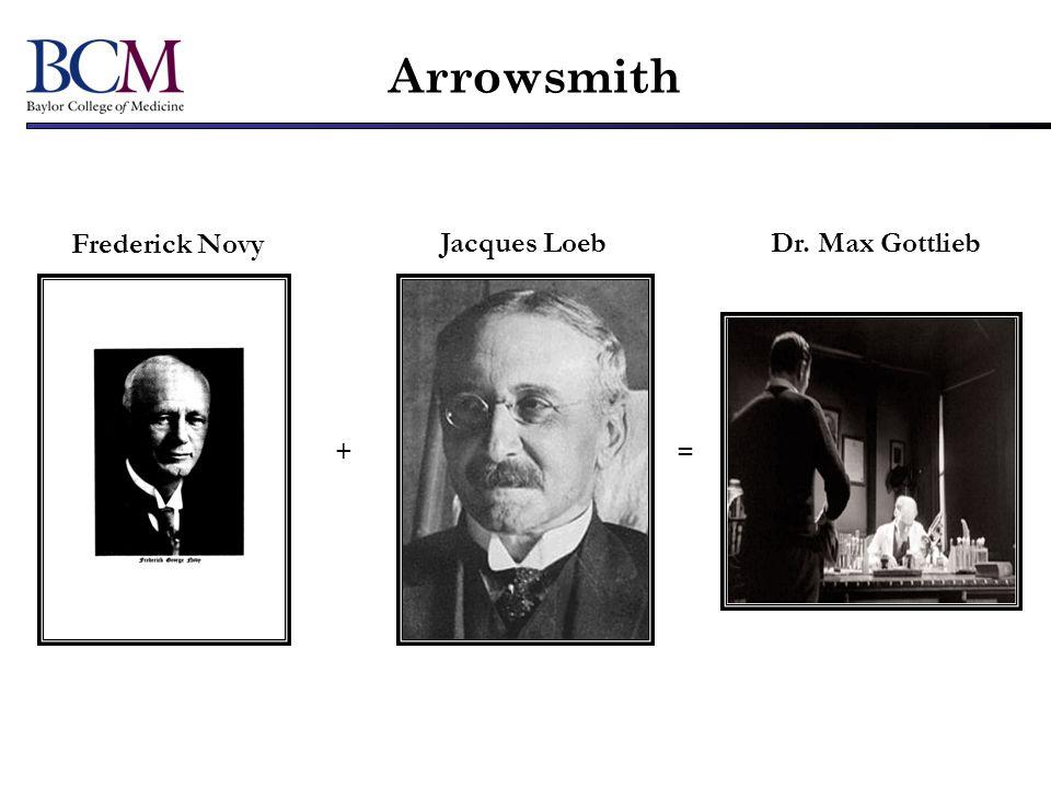 Arrowsmith Frederick Novy Jacques Loeb Dr. Max Gottlieb + =