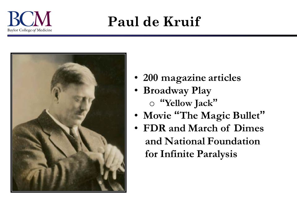 Paul de Kruif 200 magazine articles Broadway Play