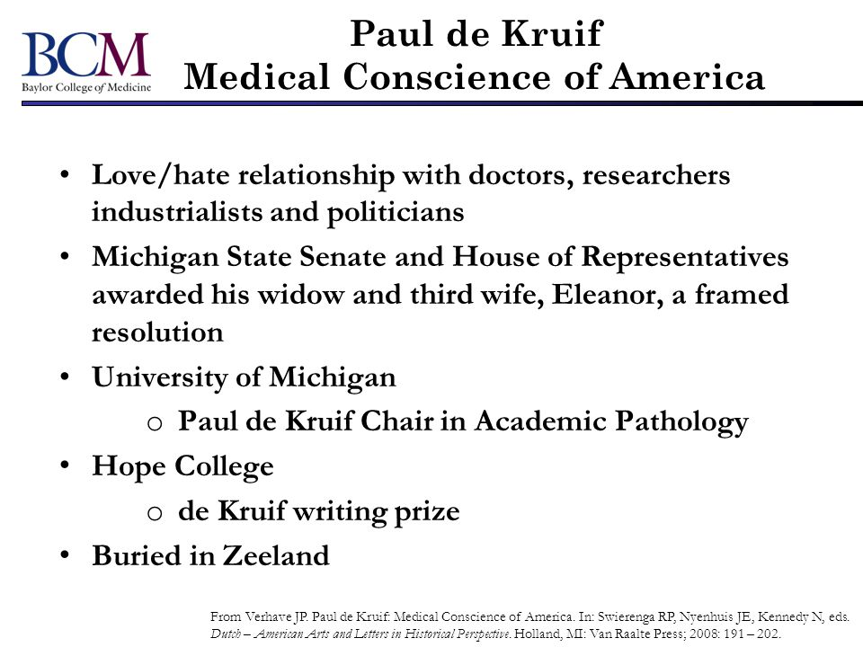 Paul de Kruif Medical Conscience of America