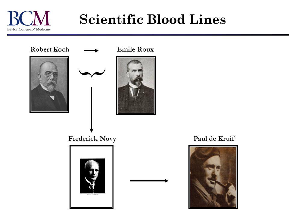 { Scientific Blood Lines Robert Koch Emile Roux Frederick Novy
