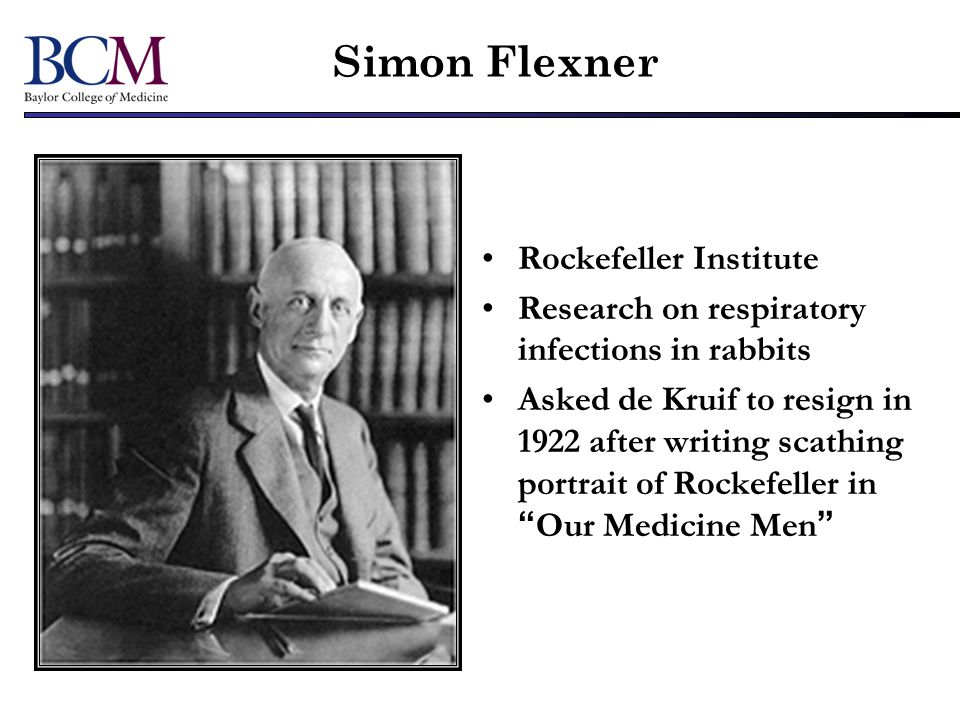 Simon Flexner Rockefeller Institute