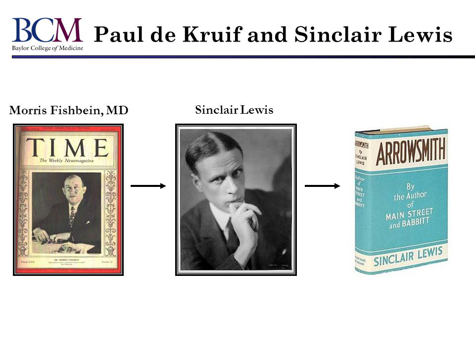 Paul de Kruif and Sinclair Lewis