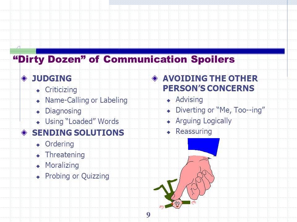 Dirty Dozen of Communication Spoilers