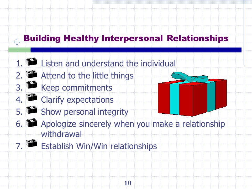 Building Healthy Interpersonal Relationships