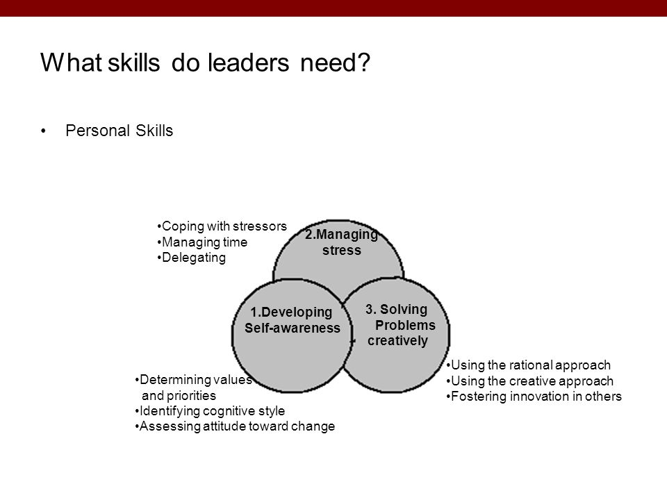 What skills do leaders need