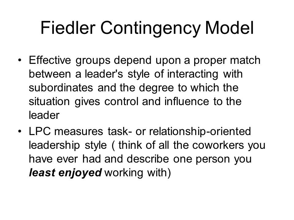 Fiedler Contingency Model