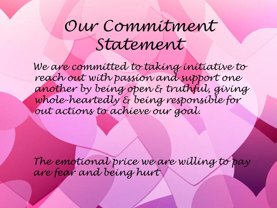 Our Commitment Statement
