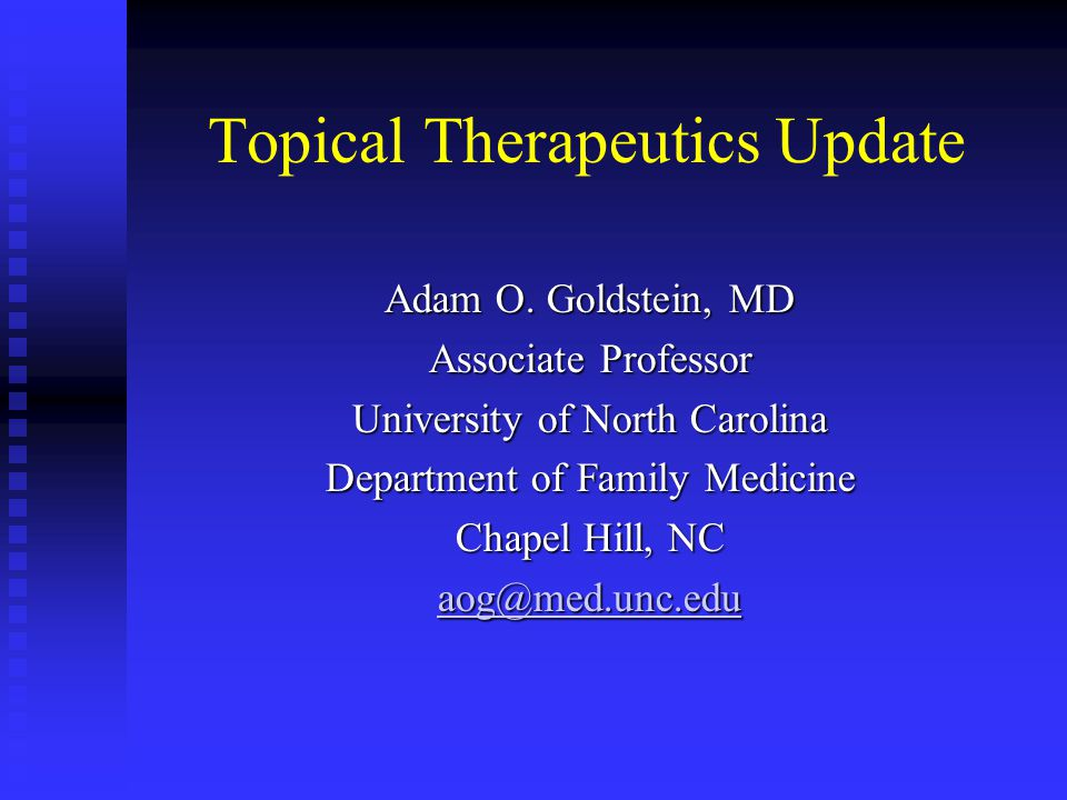 Topical Therapeutics Update
