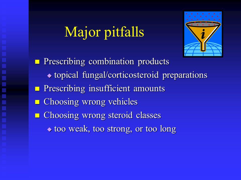 Major pitfalls Prescribing combination products