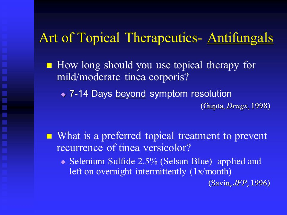 Art of Topical Therapeutics- Antifungals