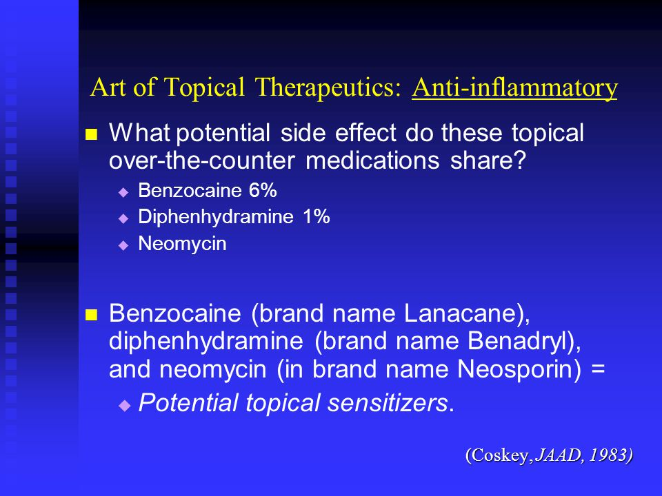 Art of Topical Therapeutics: Anti-inflammatory