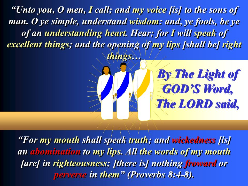 By The Light of GOD'S Word,
