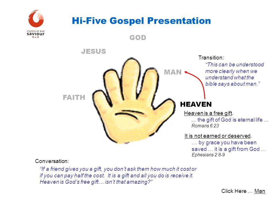 Hi-Five Gospel Presentation