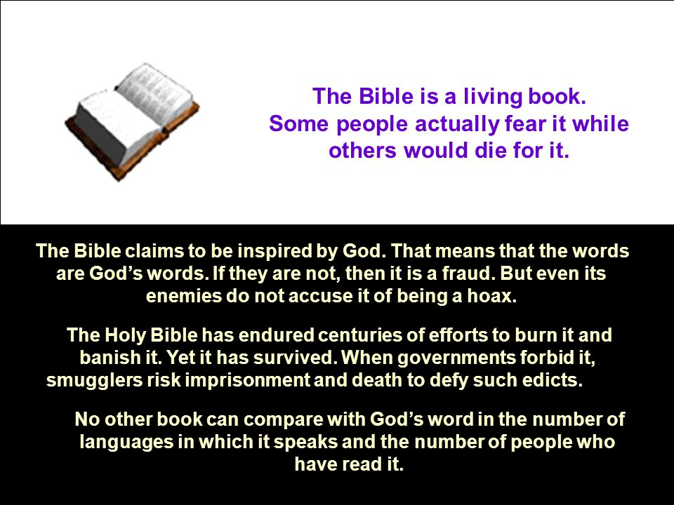 The Bible is a living book