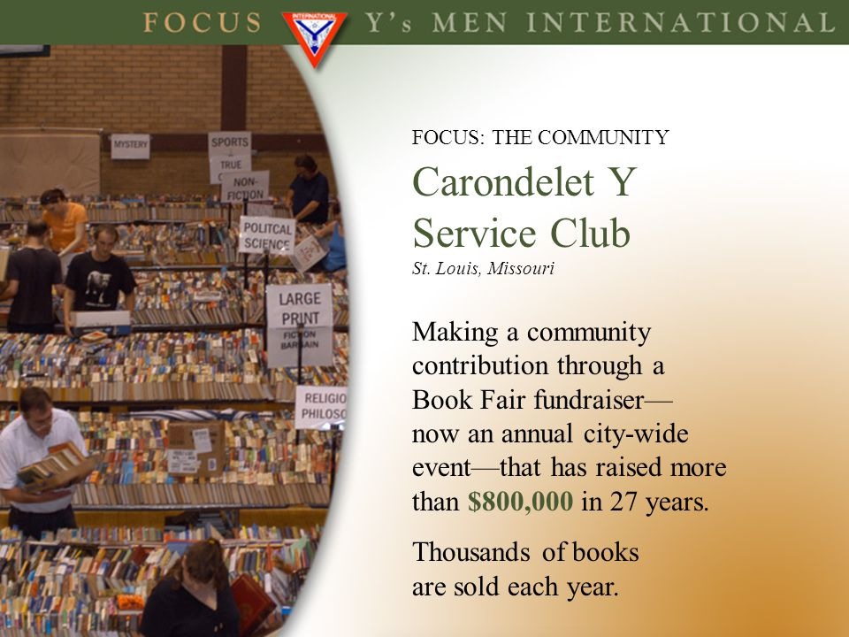 Service Club Making a community contribution through a