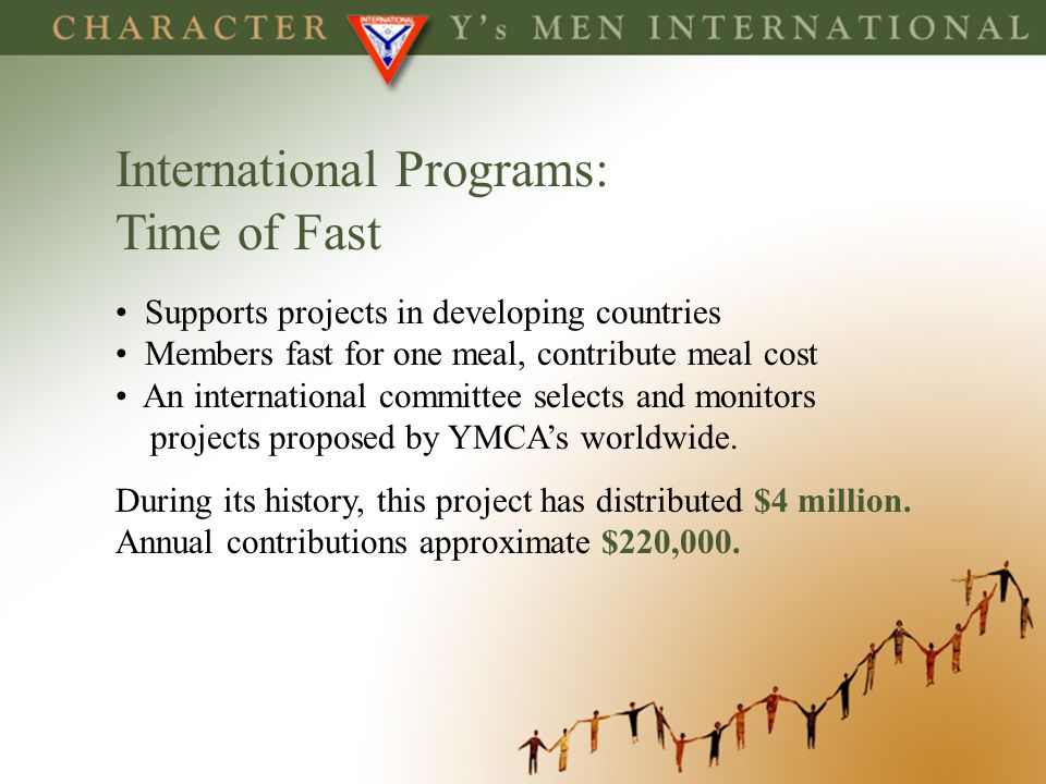 International Programs: Time of Fast