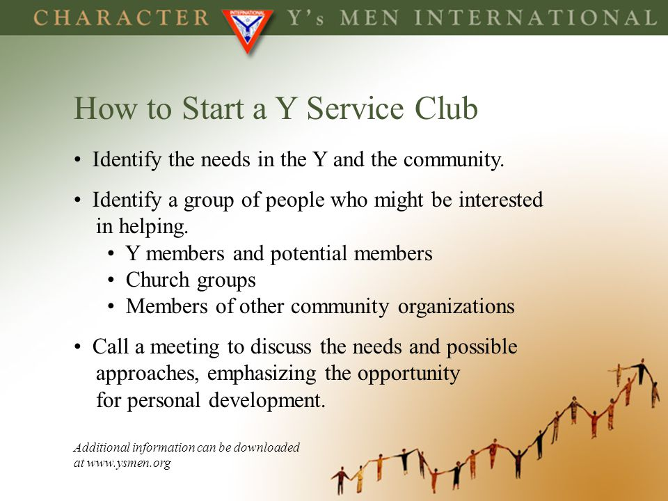 How to Start a Y Service Club