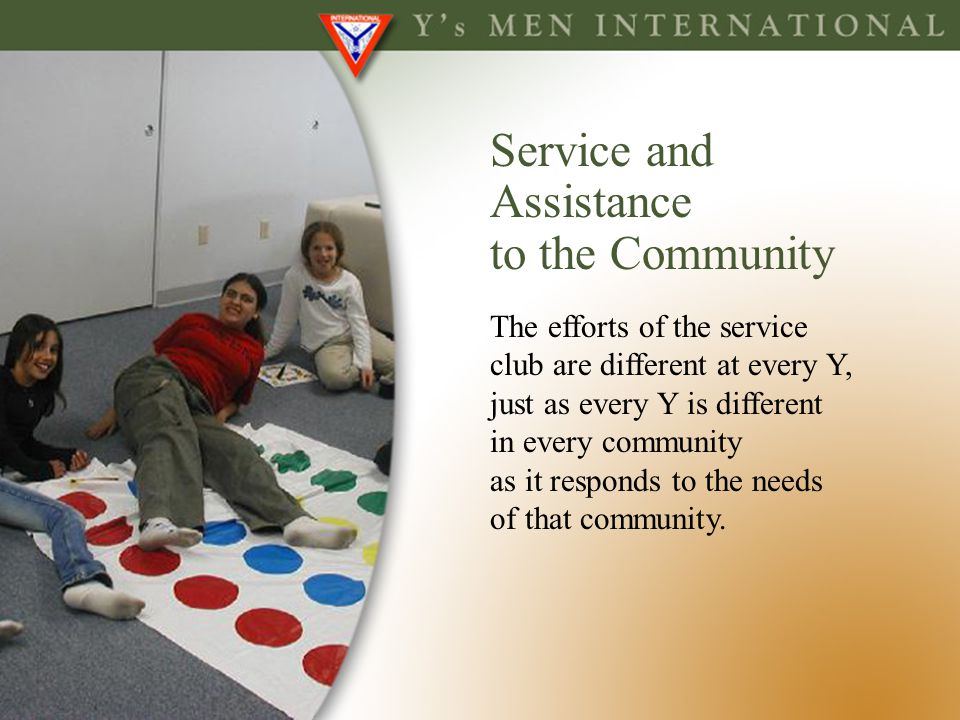 Service and Assistance to the Community The efforts of the service