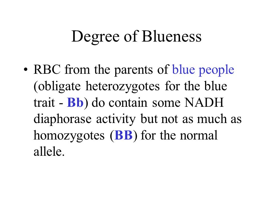 Degree of Blueness