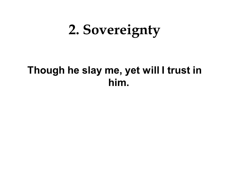 Though he slay me, yet will I trust in him.
