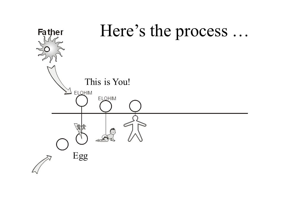 Here's the process … This is You! ELOHIM ELOHIM Egg