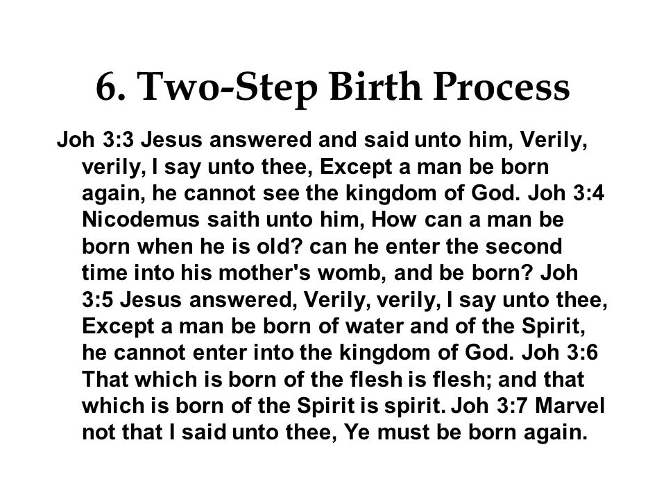 6. Two-Step Birth Process