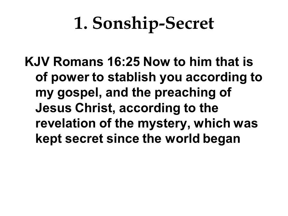1. Sonship-Secret