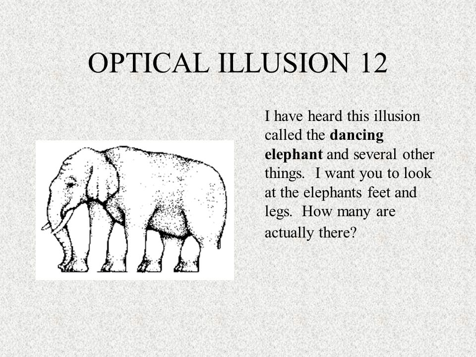 OPTICAL ILLUSION 12