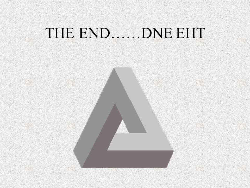 THE END……DNE EHT