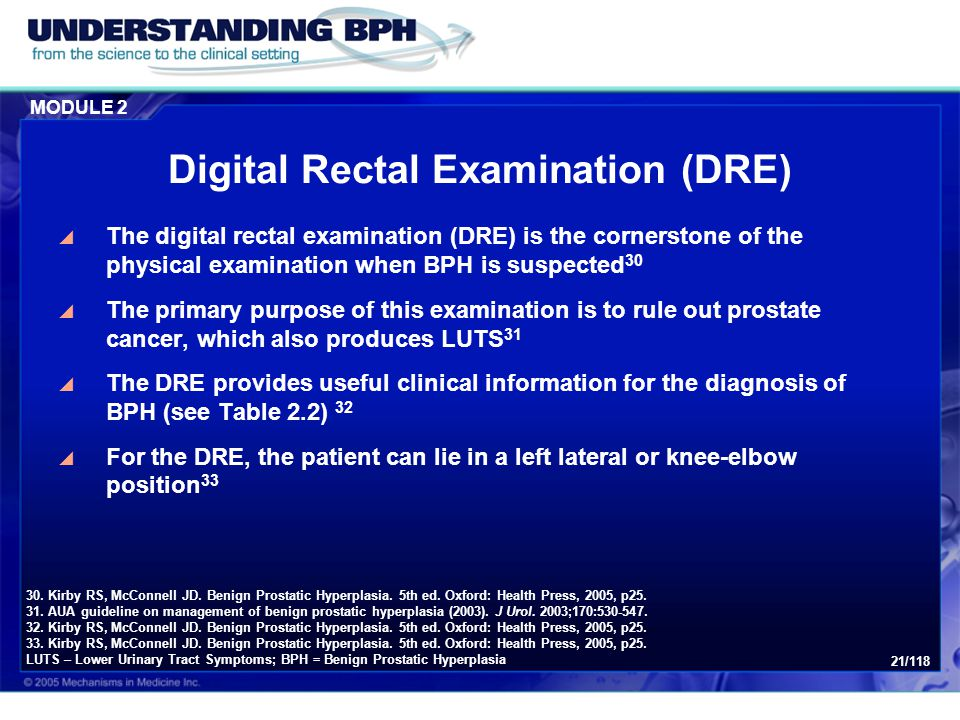 Digital Rectal Examination (DRE)
