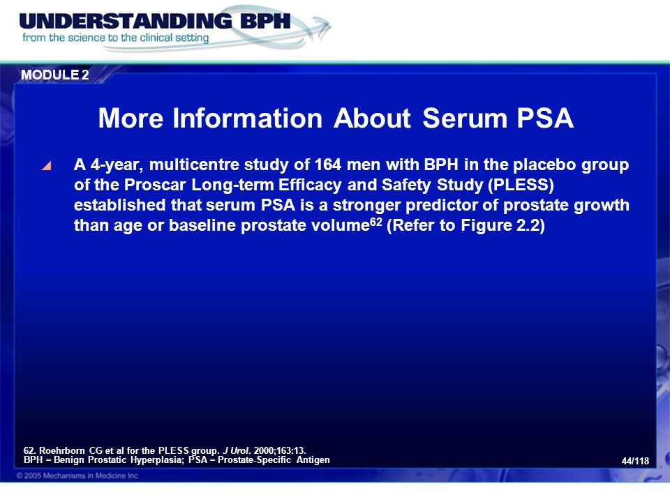More Information About Serum PSA