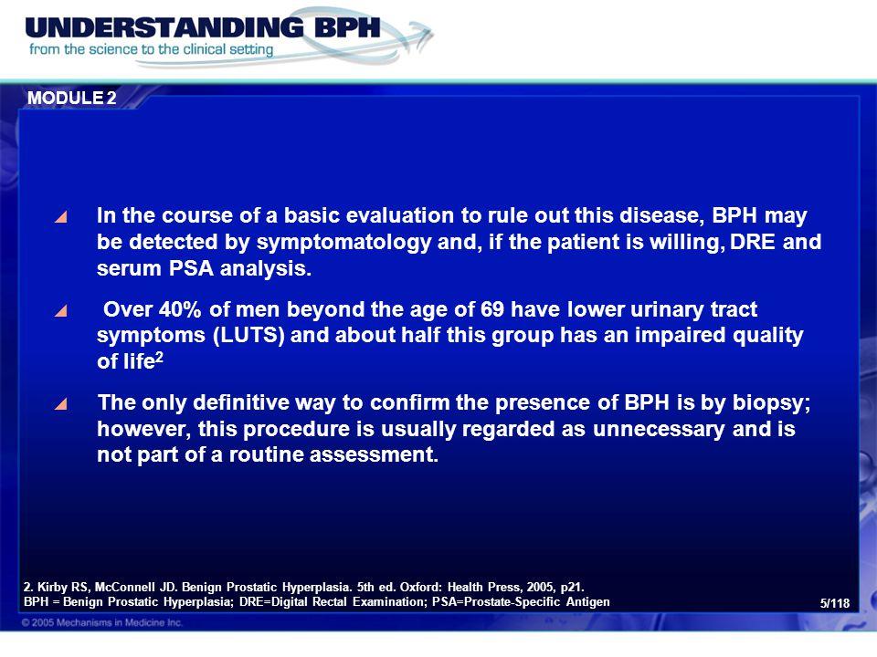 Module 2: Diagnosis of BPH