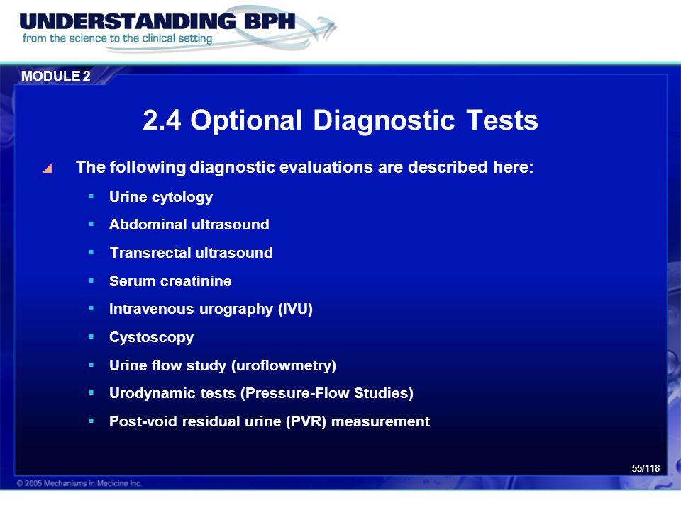 2.4 Optional Diagnostic Tests