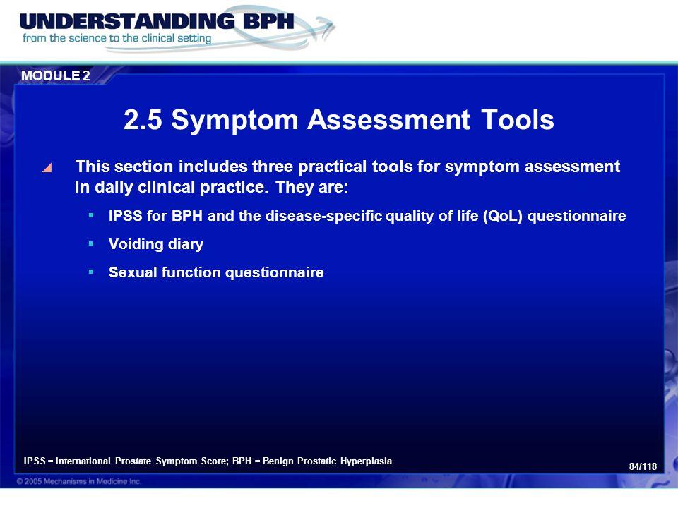 2.5 Symptom Assessment Tools