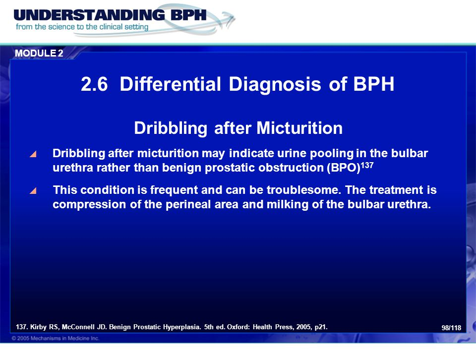 2.6 Differential Diagnosis of BPH